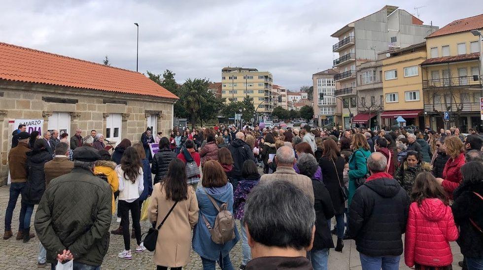 Detalle de la concentración celebrada este domingo en Monforte