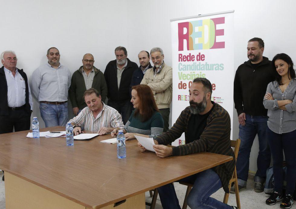 Nieve en Ourense y en Dozón.Onte tivo lugar a firma da acta fundacional de RedeOU.