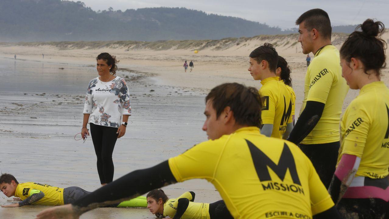 Bea Gómez, en el Campeonato Gallego de Natación del 2017