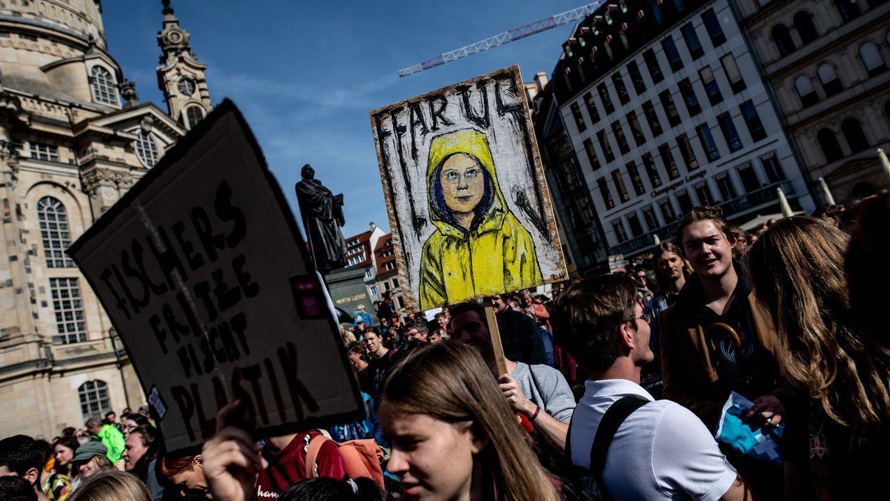 Protesta en Dresde, Alemania