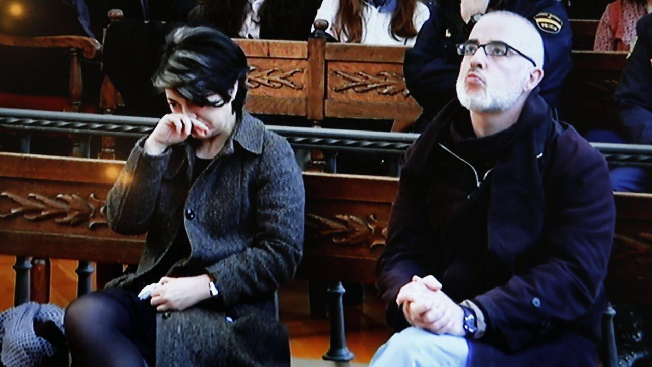 Rosario Porto y Alfonso Basterra en la vista en el Tribunal Superior de Xustiza de Galicia en la que se vieron sus recursos contra la condena, que el TSXG y el Supremo confirmaron