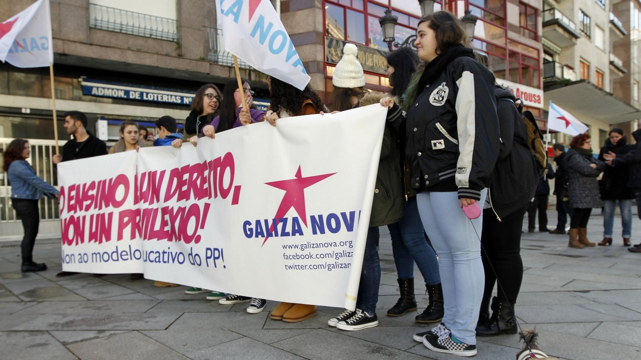 La huelga de estudiantes en Galicia, en imágenes