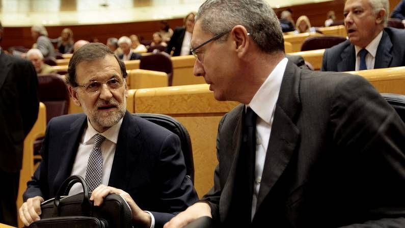 Rajoy y Gallardón, en el Congreso en junio
