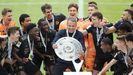 Flick y los jugadores del Bayern de Múnich celebran el título de la Bundesliga
