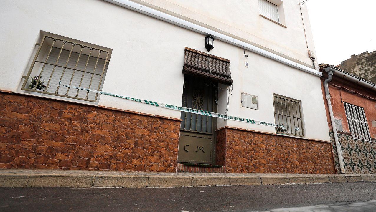 Imagen de la vivienda del autor confeso de la muerte de Marta Calvo en el municipio de Manuel (Valencia)