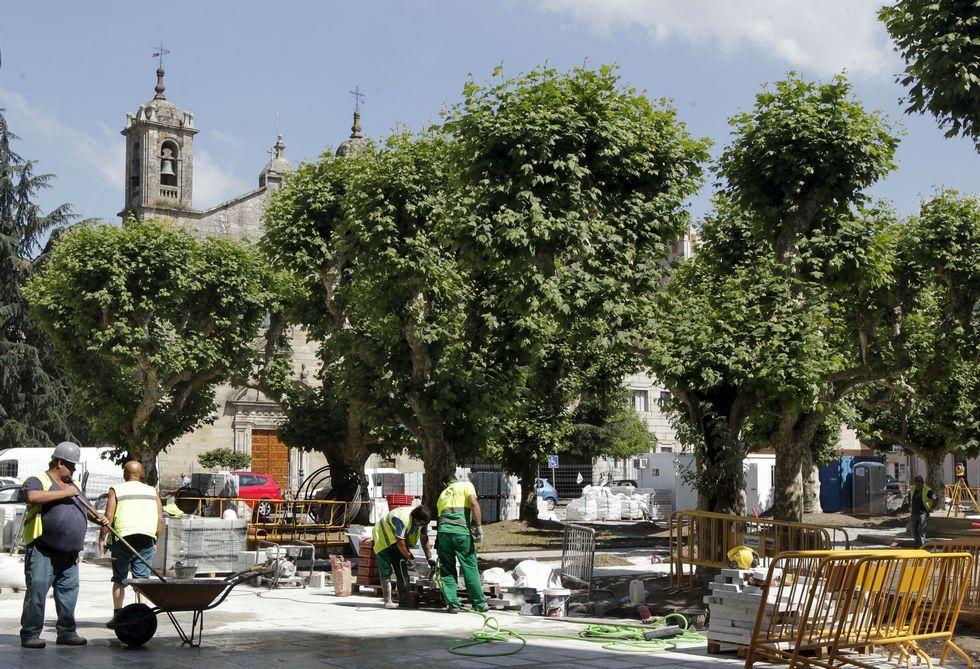 Los cinco meses de plazo para la remodelación de la plaza de España concluyeron ayer.