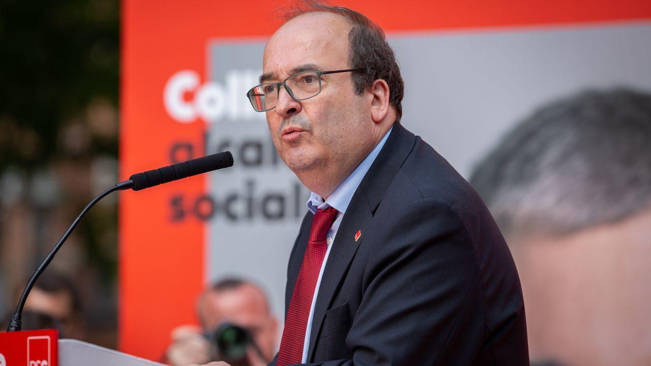 Álvarez de Toledo incendia la campaña cuestionando a Rubalcaba.El portavoz de ERC, Sergi Sabrià, en una rueda de prensa el pasado mes de enero