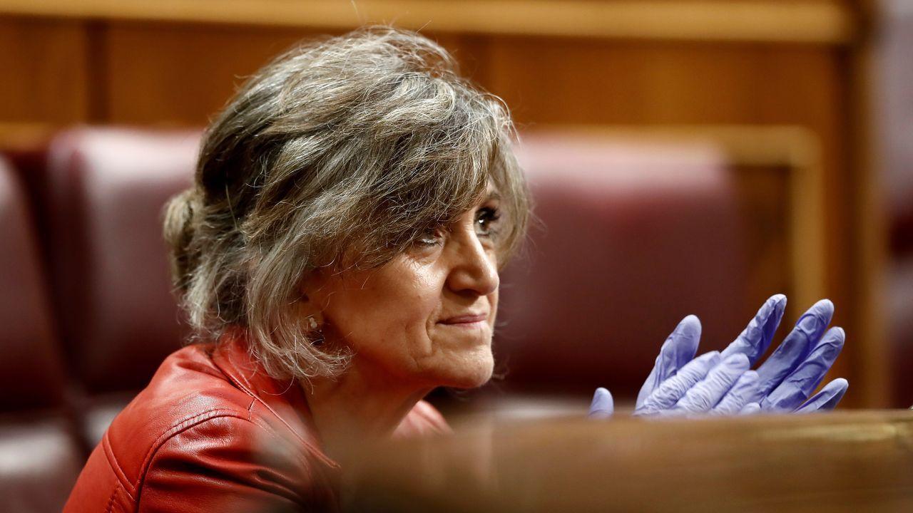 Patxi López presidente de la Comisión para la Reconstrucción Social y Económica.Luisa Carcedo fue ministra de Sanidad en el primer Gobierno de Sánchez