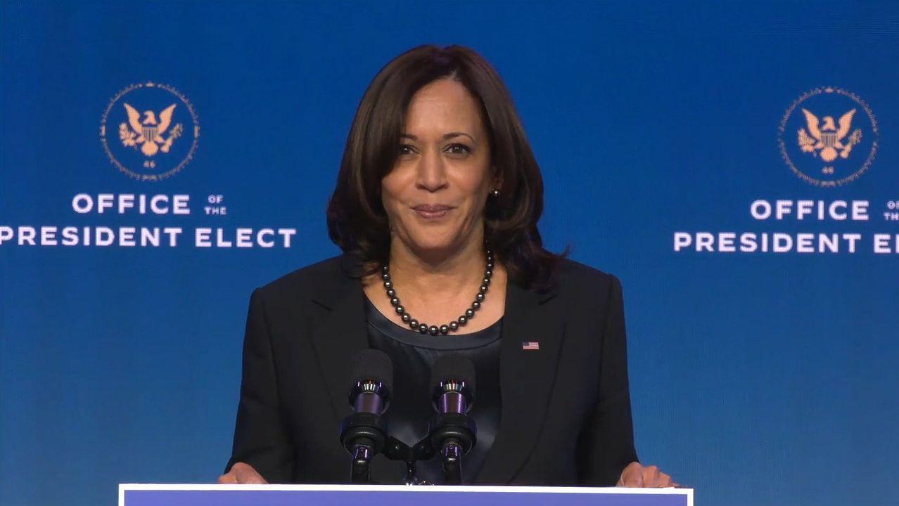 La vicepresidenta electa, Kamala Harris