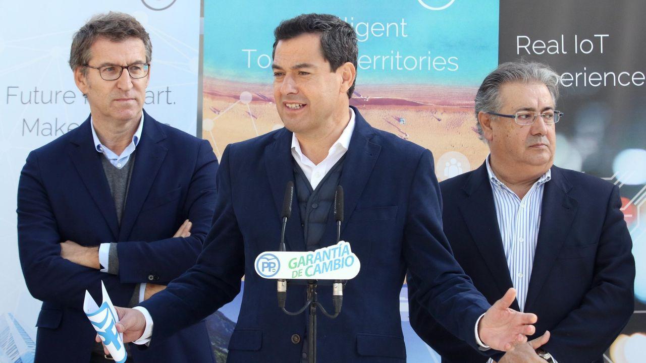 Pablo Casado acompaña a Núñez Feijoo en la apertura del curso político.Moreno Bonilla y Feijoo en una imagen de archivo