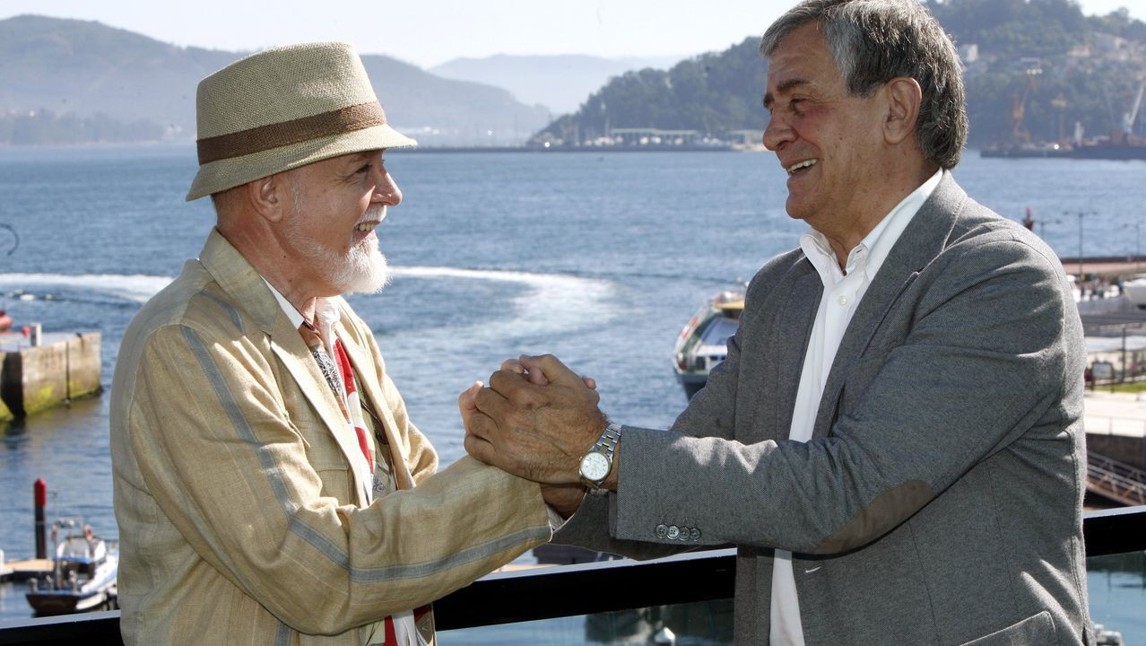 Con el también ex alcalde Manuel Pérez, en el año 2012