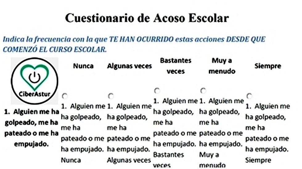 Primero de Mayo en Gijón:consignas, humoy escraches.Ficha con una de las preguntas de la encuesta CiberAstur