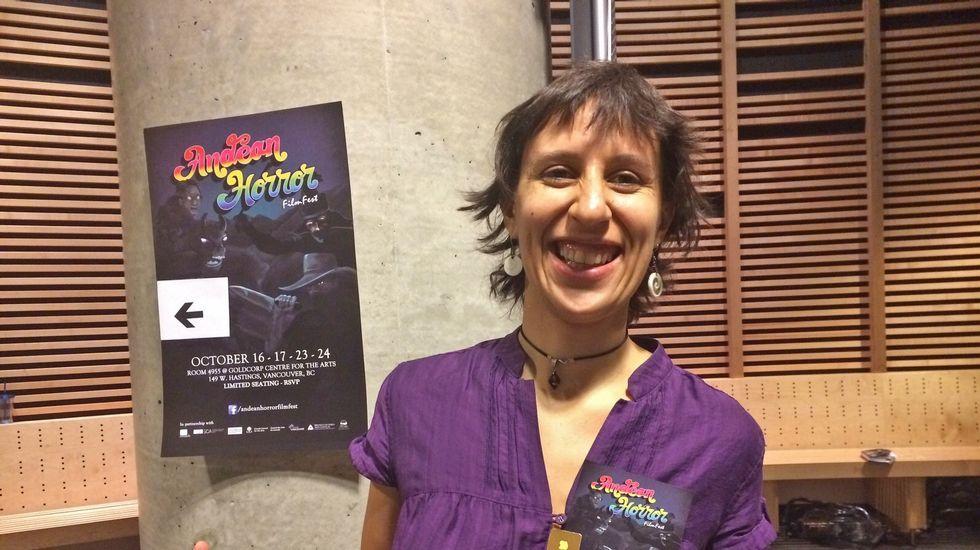 Unha captura do vídeo Remorsos, inspirado no poema homónimo de Lois Pereiro, cunha imaxe gravada na rúa monfortina Padre Feijoo