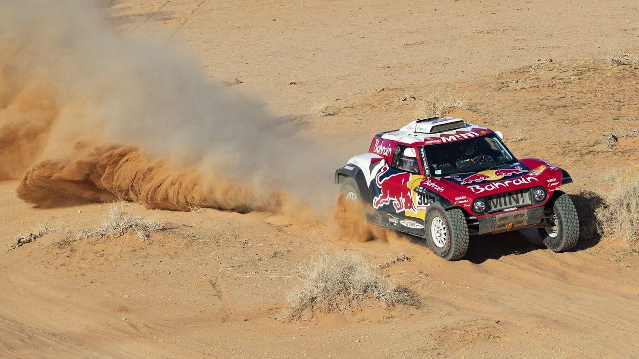Fernando Alonso durante la quinta etapa del Rally Dakar 2020