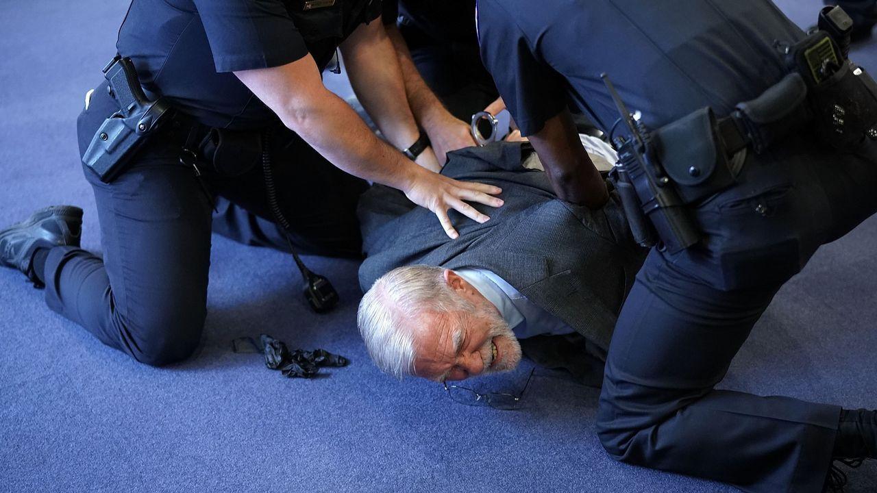 La policía redujo al exespía Ray McGovern, que interrumpió la comparecencia de Haspel