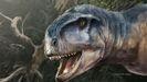 Recreación artística del dinosaurio carnívoro