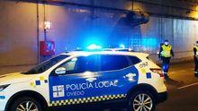 Un control de la Policía Local en Oviedo