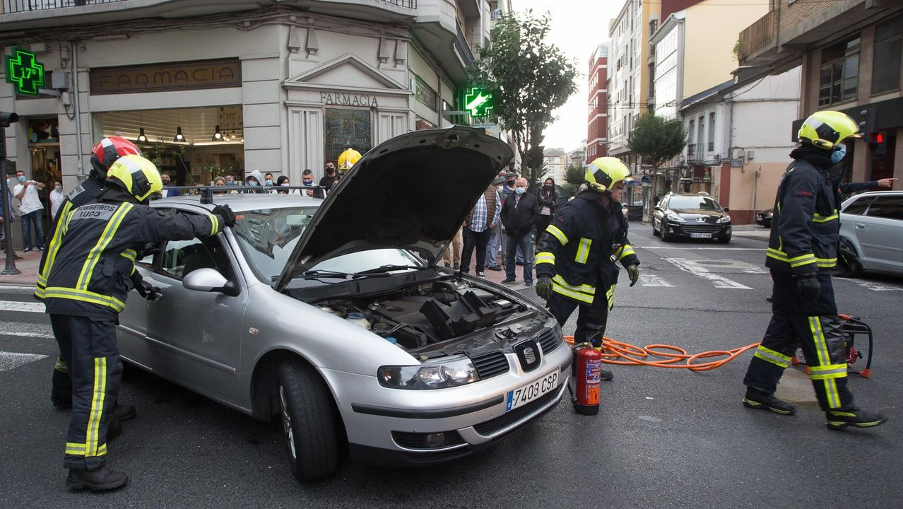 Accidente de un turismo en Lugo, en una imagen de archivo
