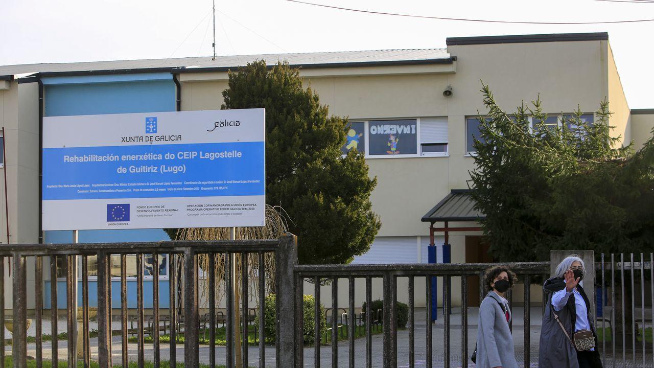 Cribado realizado en la primera quincena de este mes en el pabellón de Guitiriz.El CEIP Lagostelle de Guitiriz es el centro con más casos de la provincia