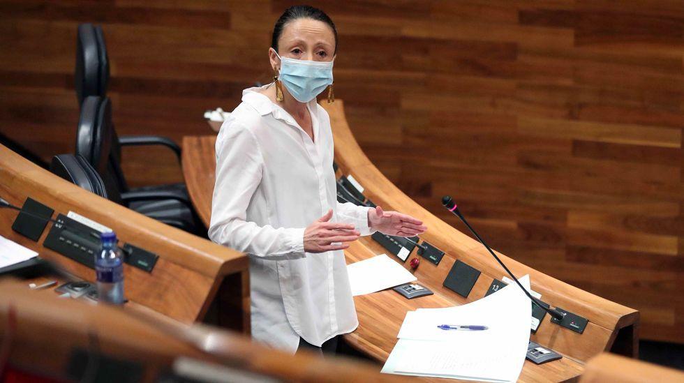 Melania Álvarez, durante su intervención en la Junta