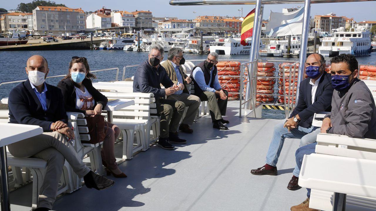 Damos un paseo en catamarán por la ría de Arousa en la presentación de la campaña turística ?Elixe Galicia?.El lobo que se refugió en una casa en ruinas el martes en una aldea habitada en Cuntis