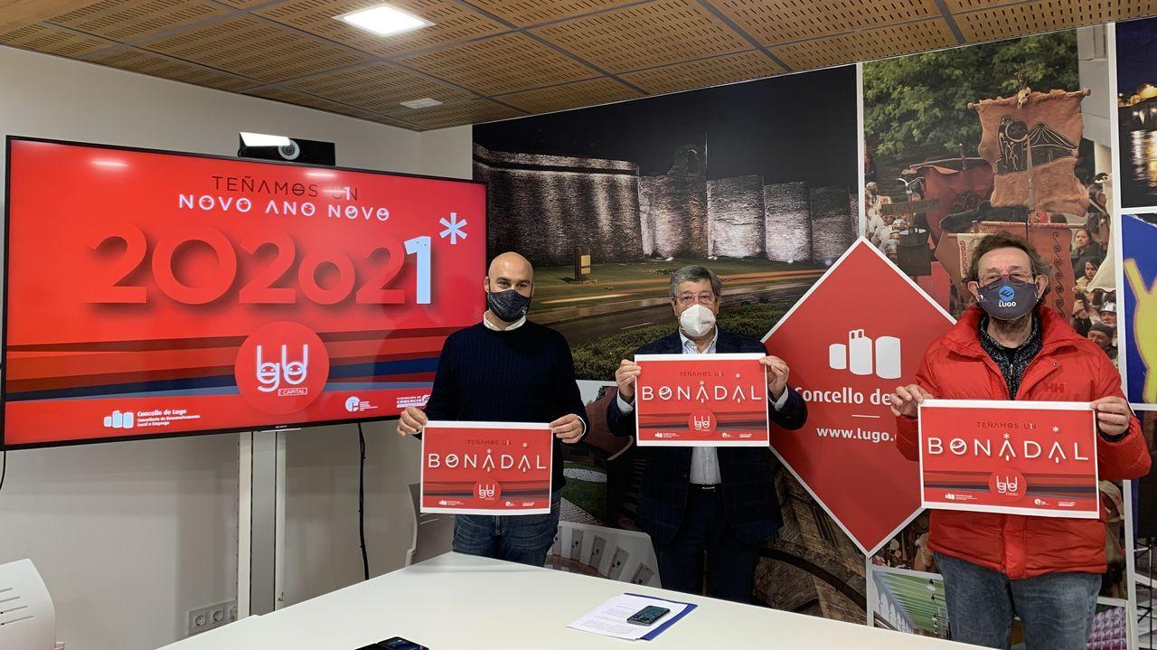 Presentación de la campaña con el concejal, José María Seijas y Cheché Real