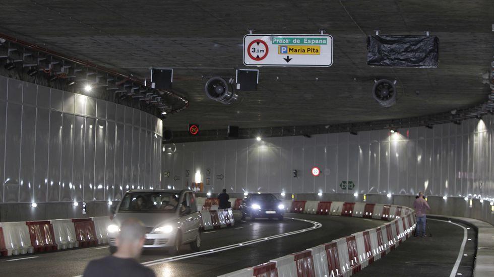 El túnel de la Marina abrió a la circulación a las seis de la tarde