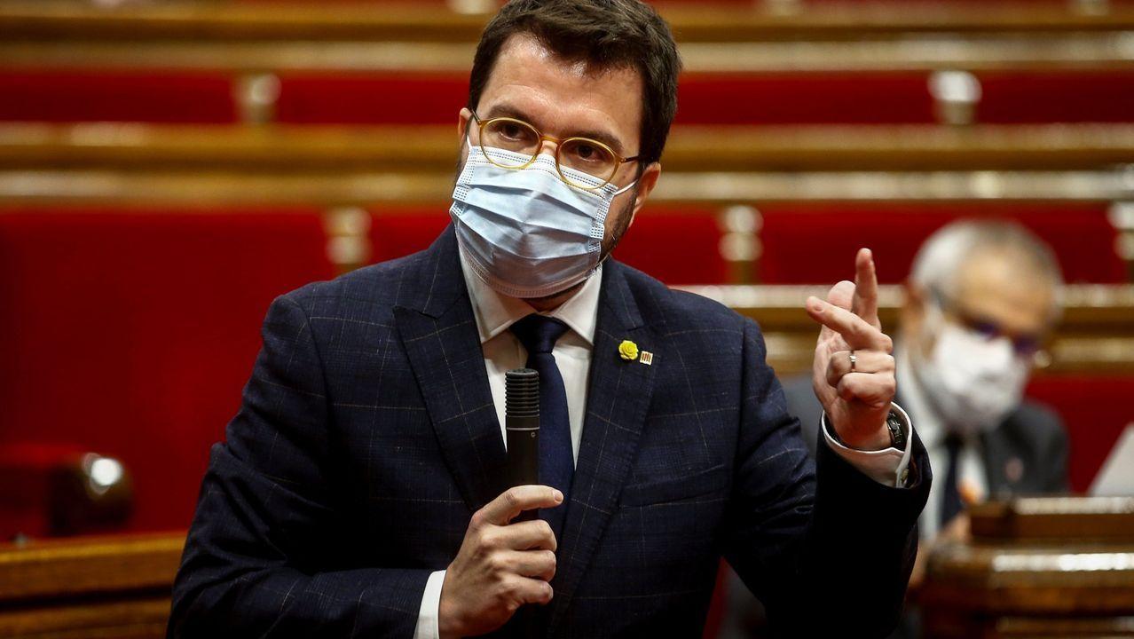 Pere Aragonés, presidente en funciones de la Generalitat