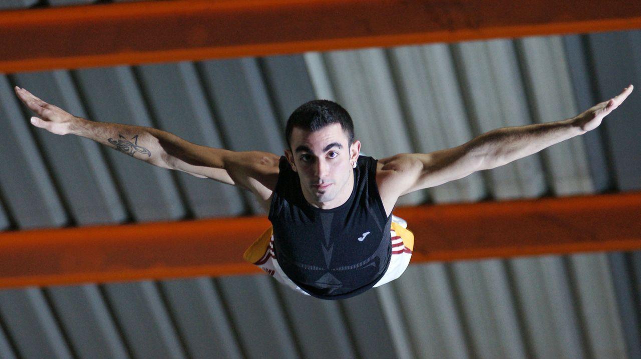 Daniel Pérez Morales, gimnasta mundialsita en trampolín.