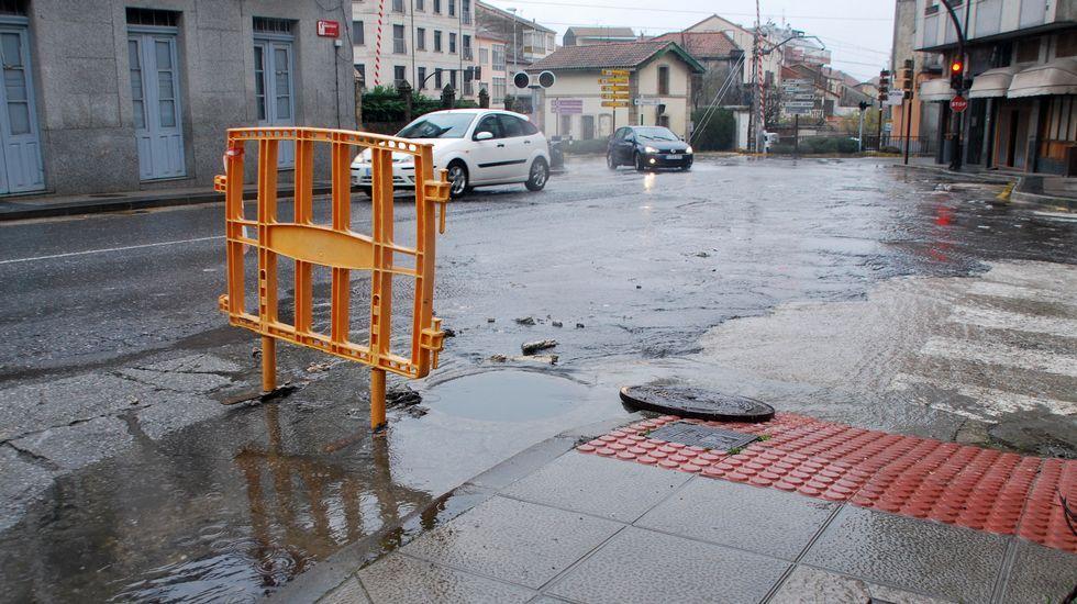 Vistas aéreas de los efectos de las intensas lluvias.Los futbolistas de Escalza siguen en la segunda plaza.