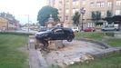 Vehículo empotrado contra la fuente de Cuatro Caños