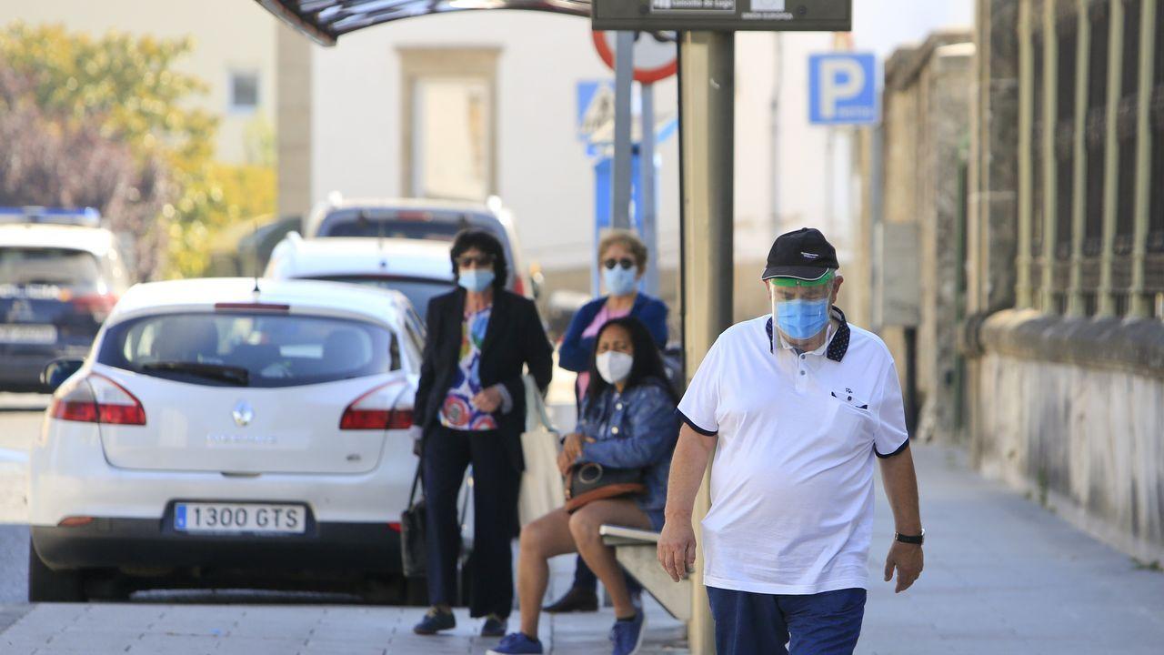 Uso de la mascarilla en las calles de Lugo
