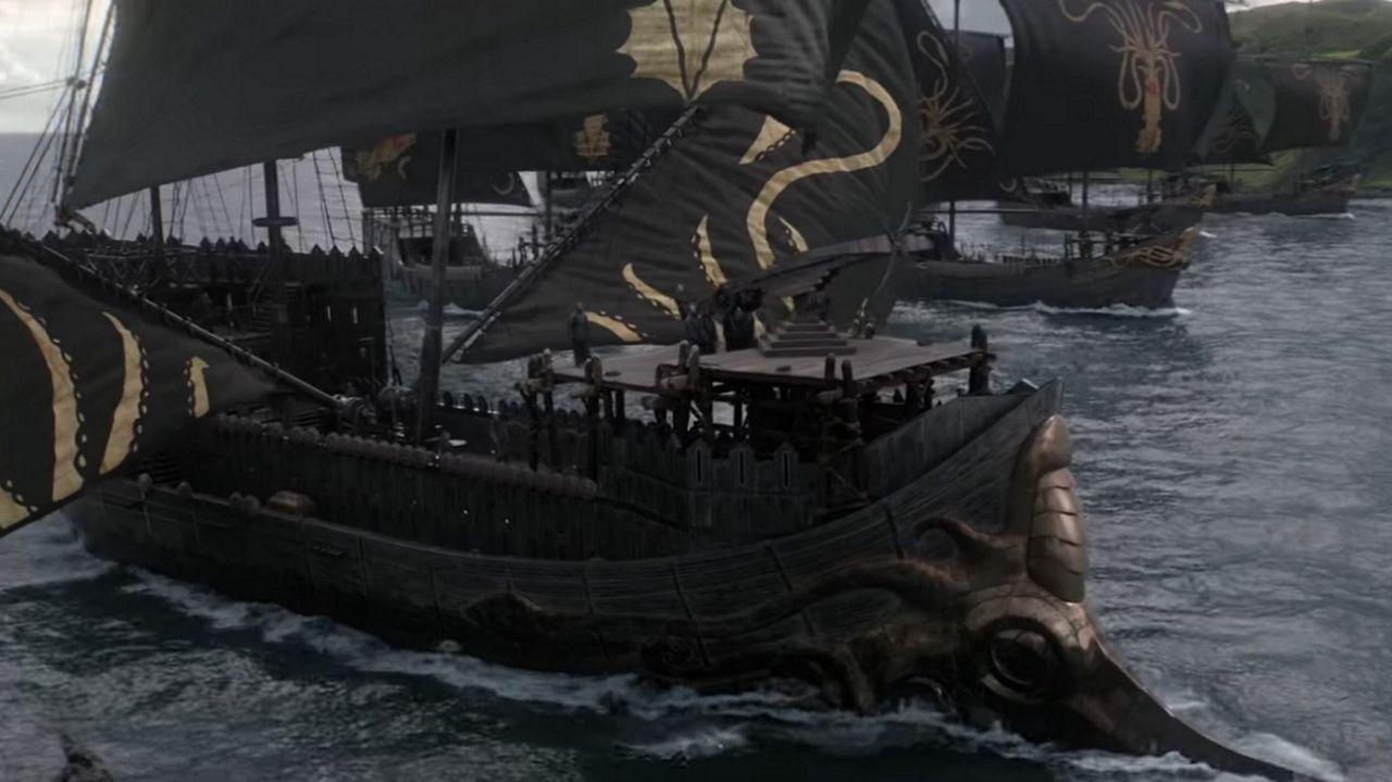 La flota del hierro, en Rocadragón