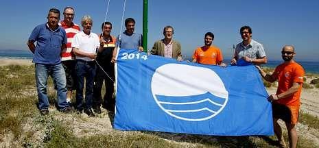 Las playas de As Saíñas (en la imagen) y la de Pedra do Sal son las que tienen la bandera azul.