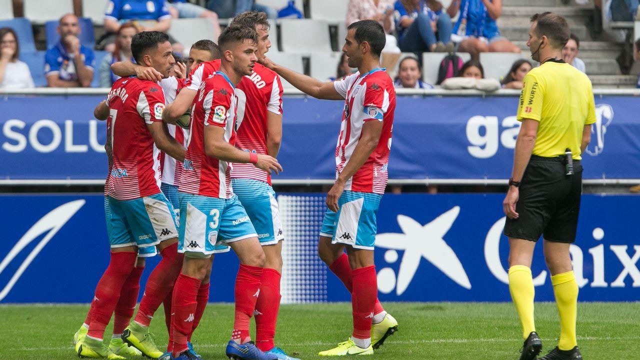 Paco Zas comparece ante la prensa en plena crisis del Deportivo.Choco Lozano celebra un gol con el Girona