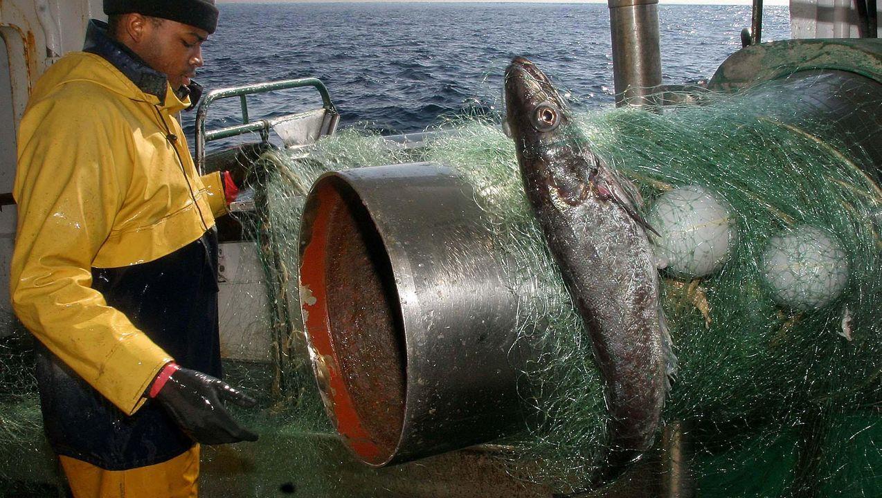 Imagen de archivo de un volantero gallego capturando merluza