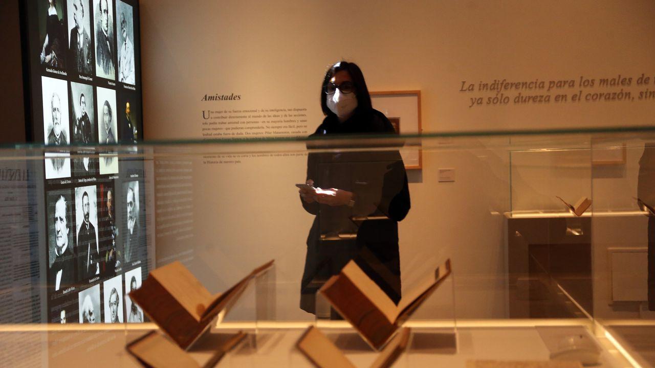 Detalle de la exposición sobre Concepción Arenal que acoge la Biblioteca Nacional, en Madrid