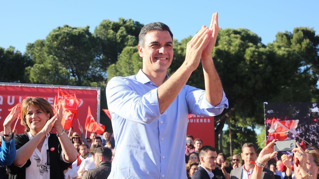 Pablo Iglesias, convencido de que formará gobierno con el PSOE.Pedro Sánchez, en un acto de la campaña electoral en Madrid