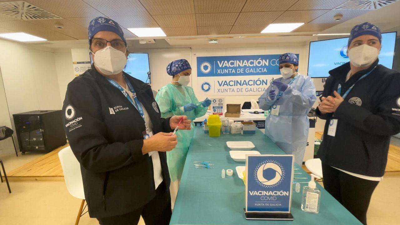 Equipo de vacunación en Ourense