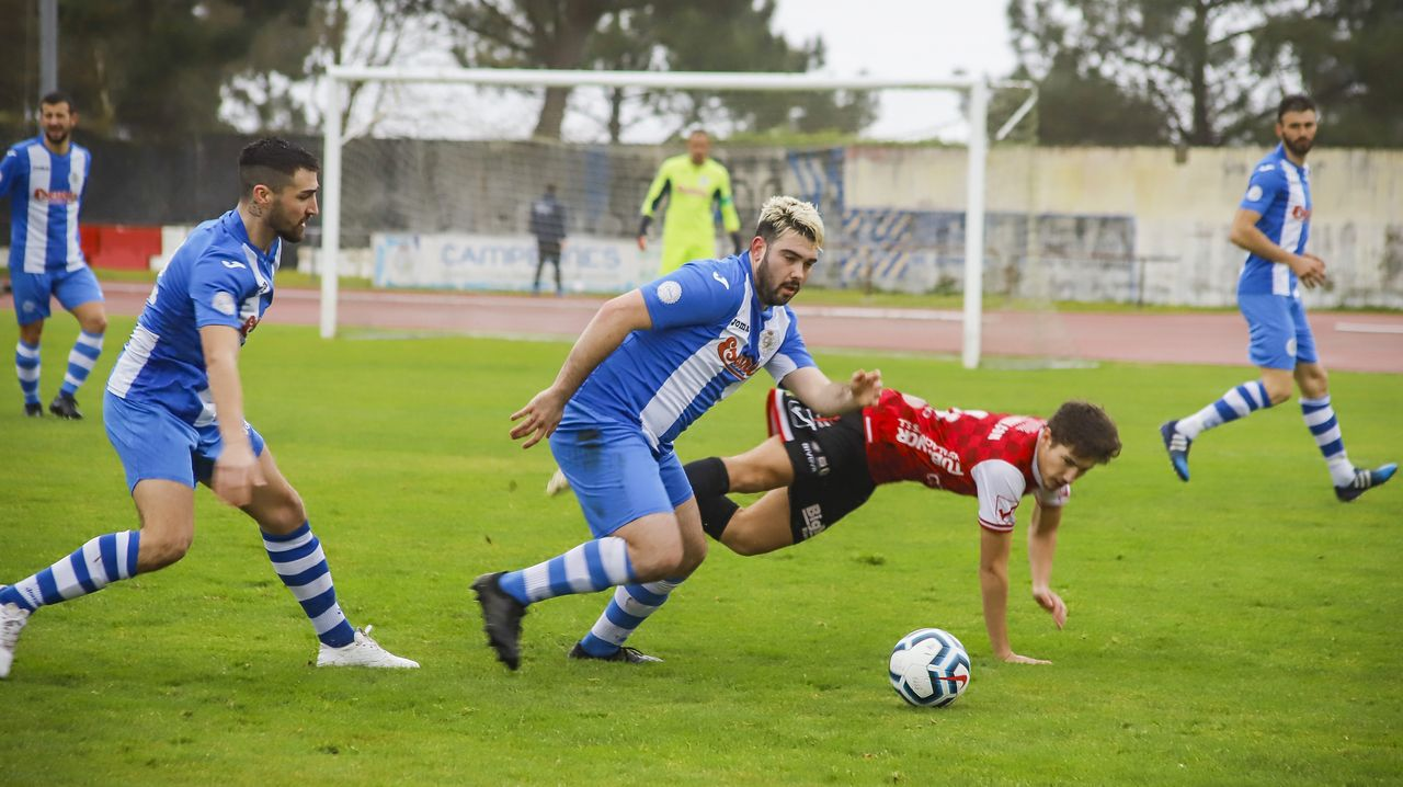 Joselu en el encuentro entre el Racing de Ferrol y el Vetusta