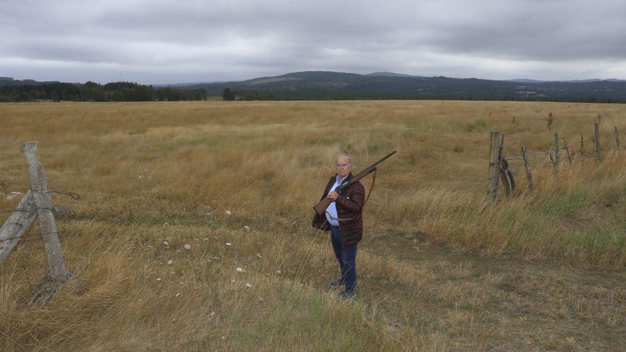 El ganadero Leandro Quintas en la finca que ahora dedicará a coto de caza