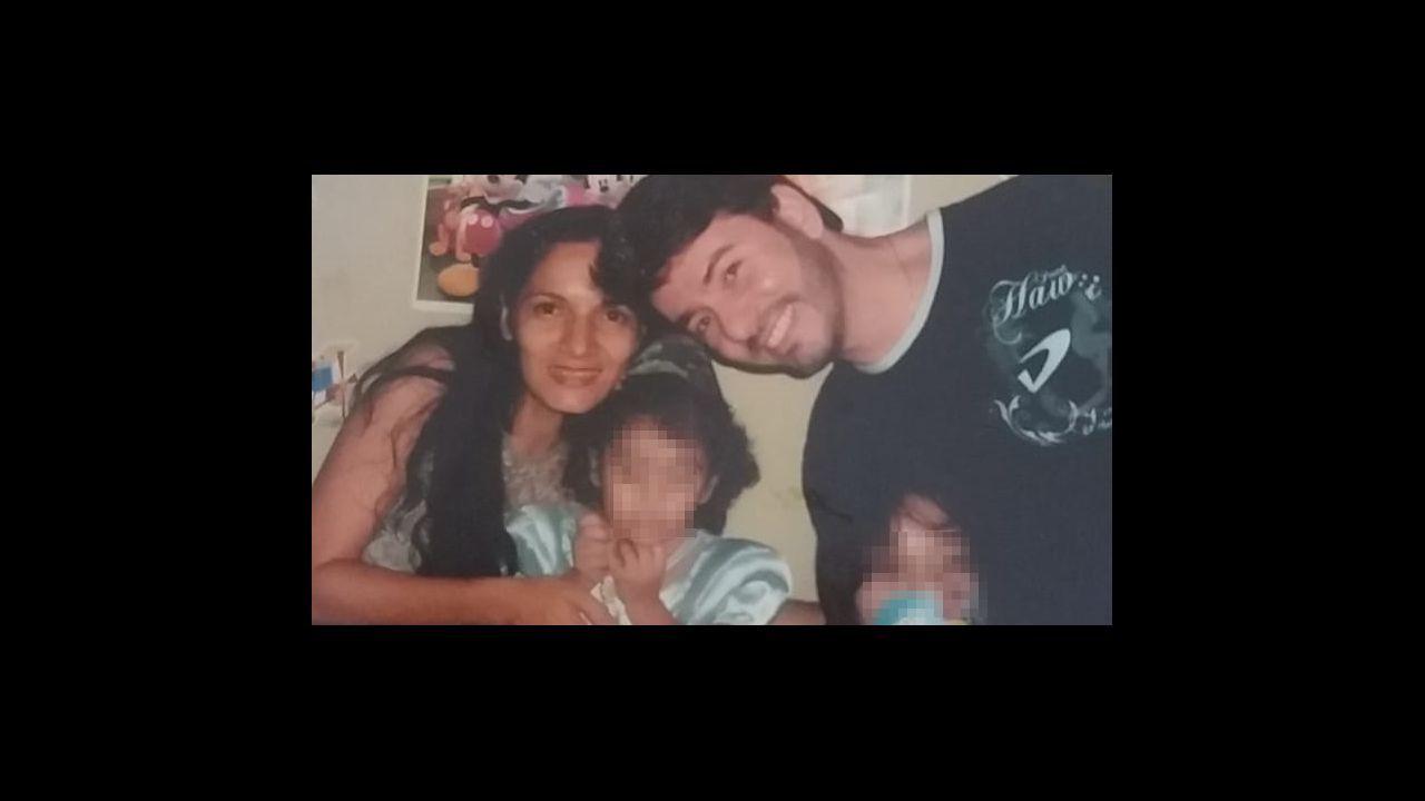 Marcio, con Olivia, que fue su mujer, y sus dos hijas, hace ya algunos años