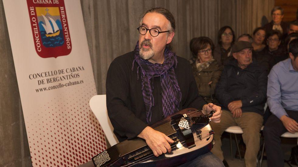 Bieito Romero, nun acto en Cabana anterior á pandemia