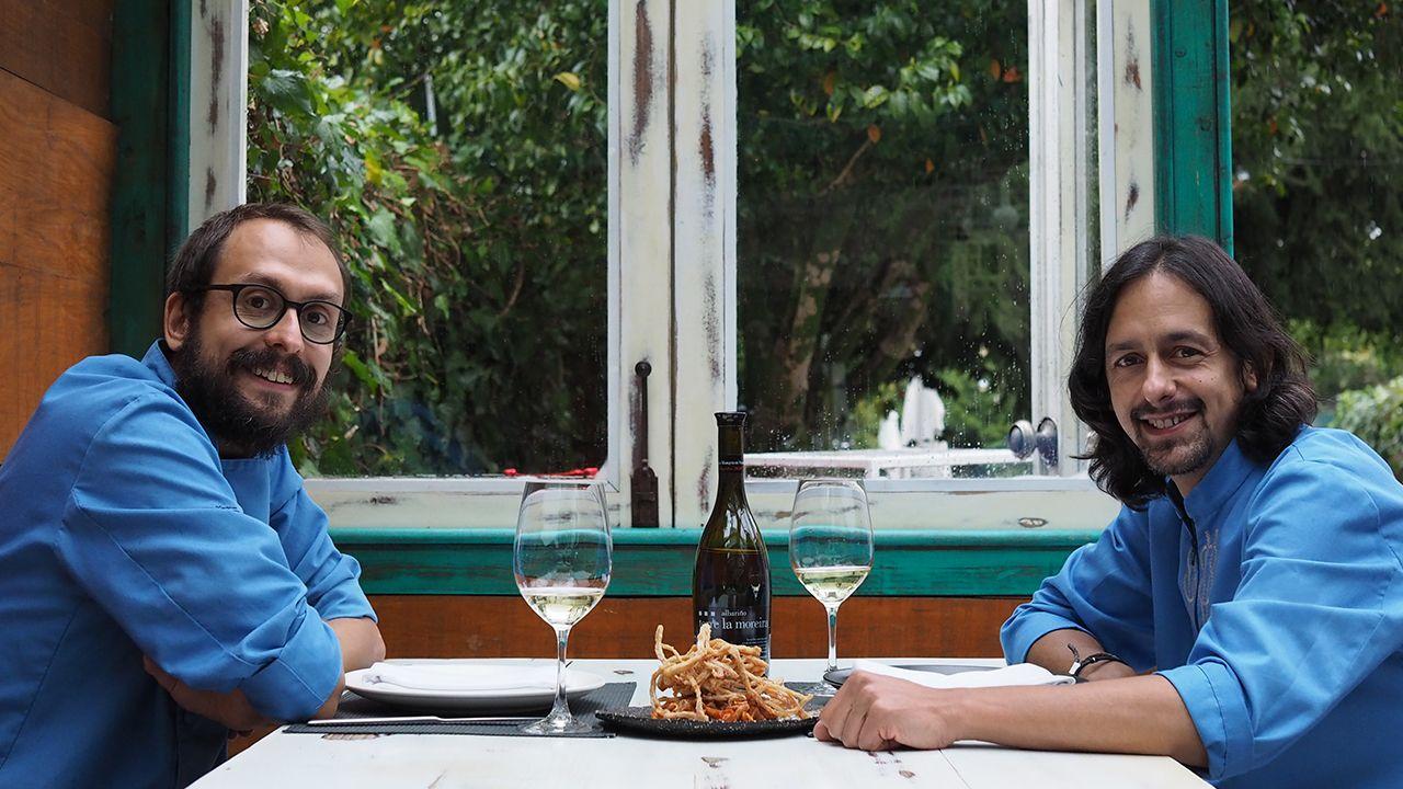 Eloy Cancela y Kike Piñeiro están al frente de A Horta do Obradoiro (Santiago)