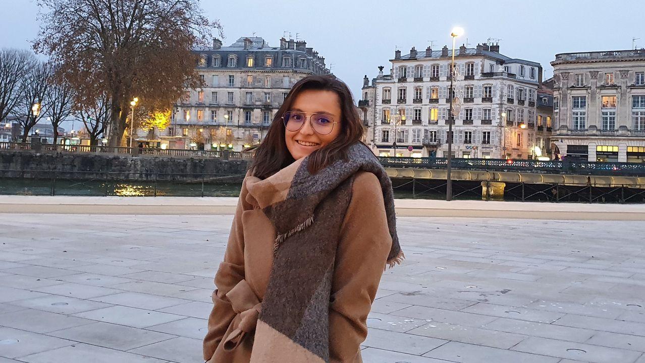 Irene Arto Escuredo en una foto tomada en Bayona (Francia), donde reside actualmente