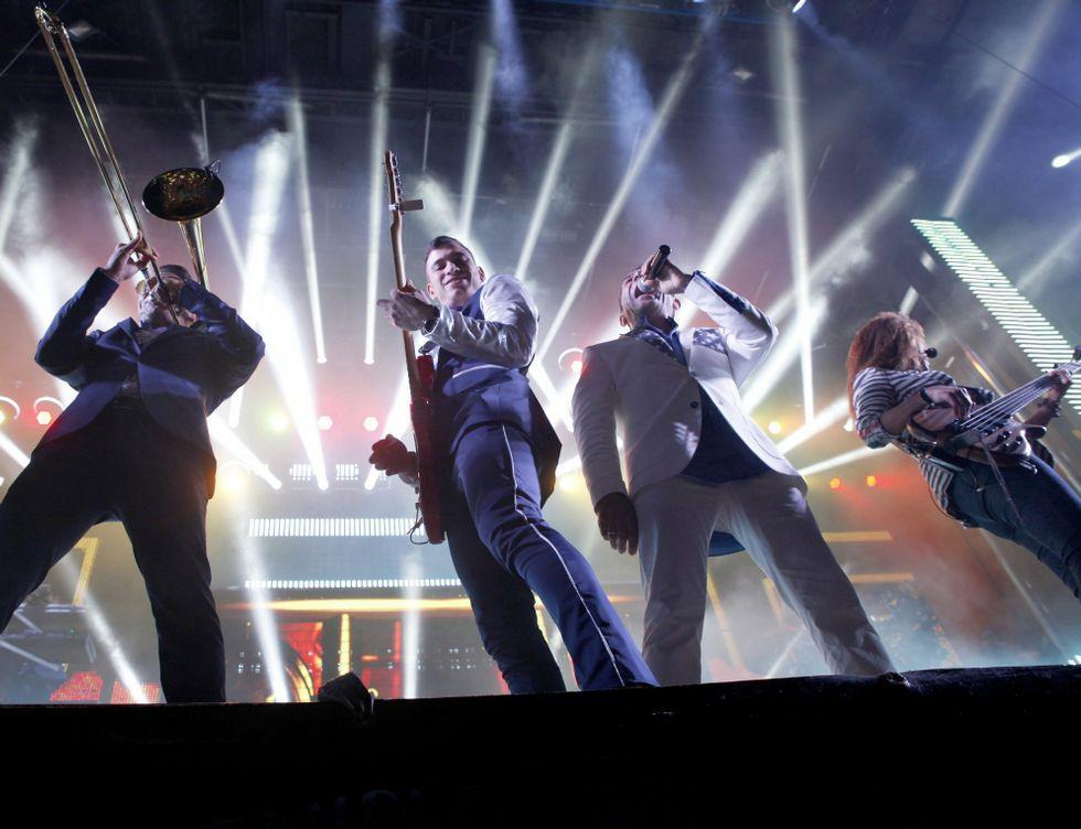Freddie Mercury y Olivia Newton-John, en A Guarda