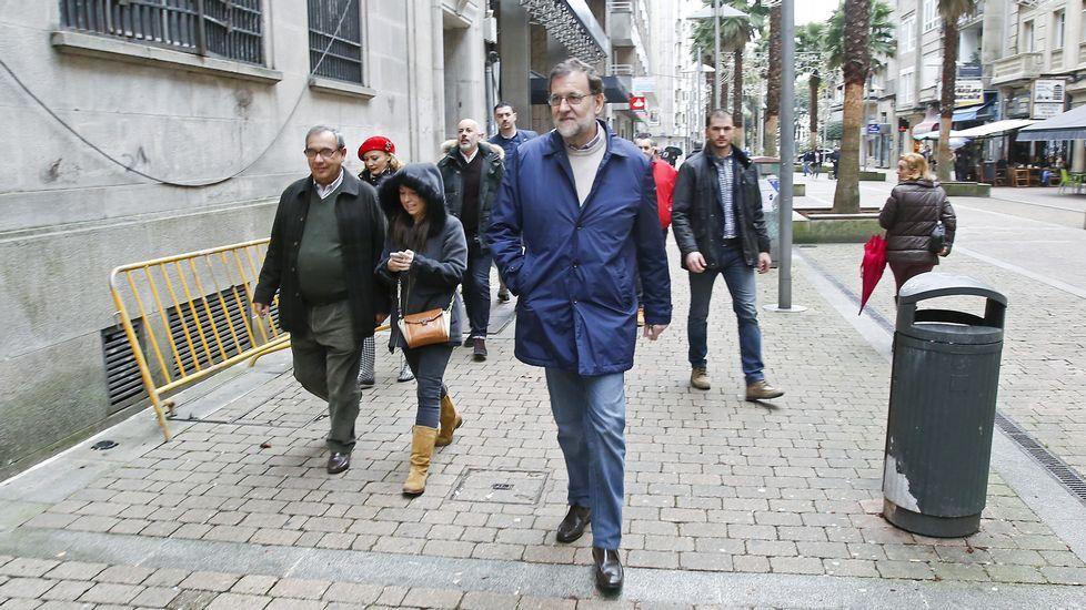Rajoy, en la calle Andrés Muruais de Pontevedra
