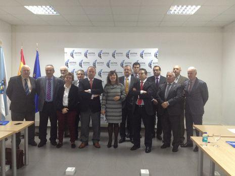 Beatriz Mato, con los representantes de Asime