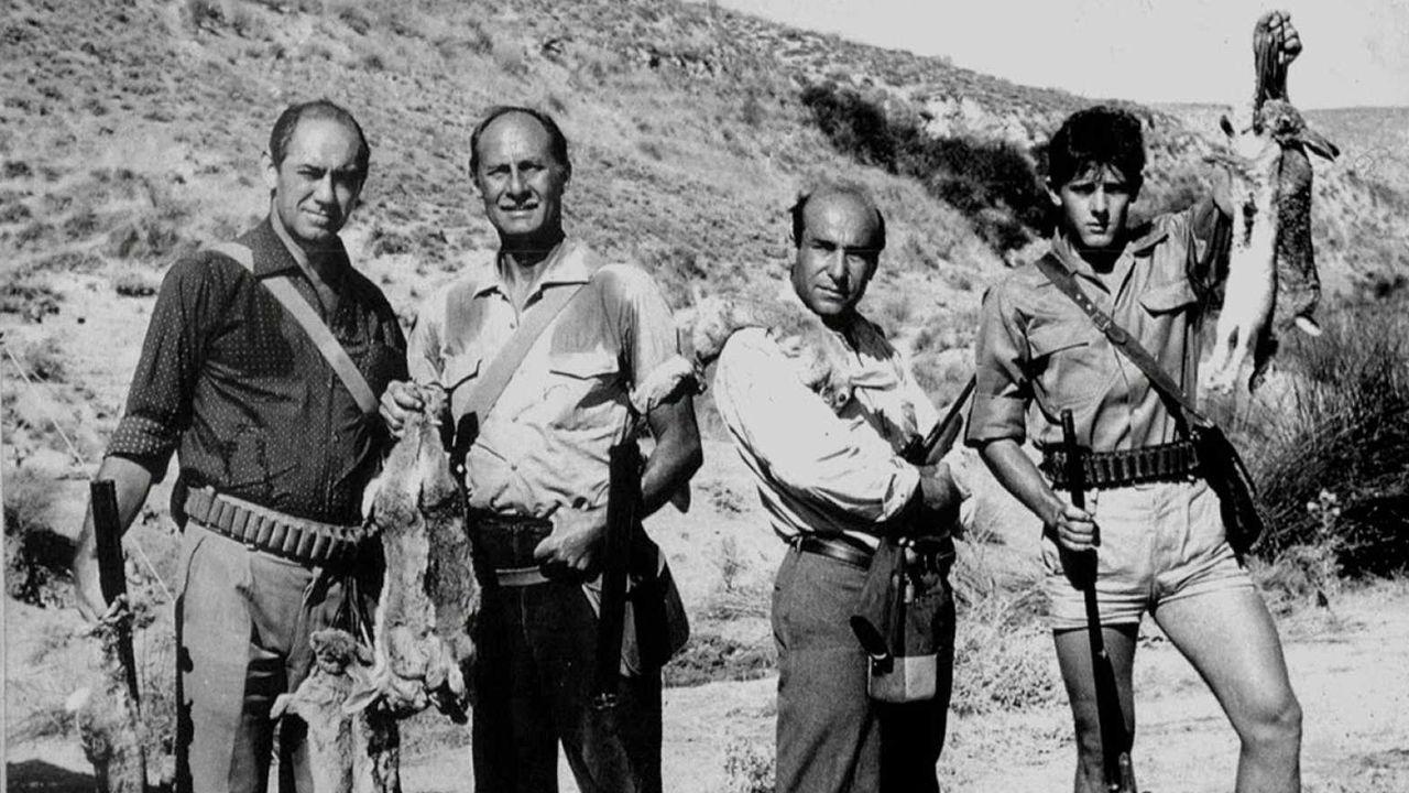 Fotograma del filme de Saura «La caza» (1965)