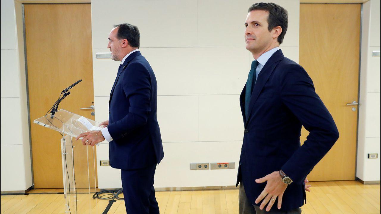 Vox vota en contra del candidato del PP a la investidura en Murcia.El presidente de la Asamblea de Madrid, Juan Trinidad, se reúne con la candidata del PP a la Presidencia de la Comunidad, Isabel Díaz Ayuso